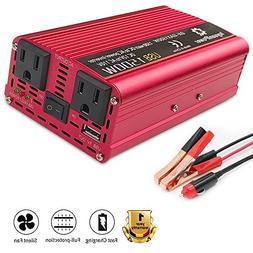 LVYUAN 700W/1500W Power Inverter DC to AC 12V to 110V Car In