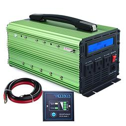 EDECOA 2000W Power Inverter 3 AC Outlets DC 12V to 110V 120V