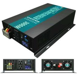 Power Inverter 3000 Watt Pure Sine Wave Inverter 12V to 110V
