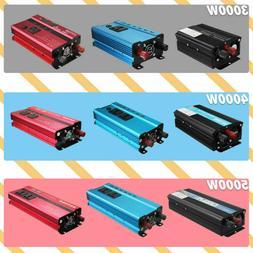 Power Inverter 3000W/4000W/5000W 12/24V to 110-130V Sine Wav