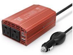 Power Inverter 300W DC 12V to 110V AC Car Inverter with 4.2A