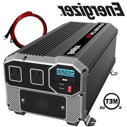 ENERGIZER 3000 Watt 12V Power Inverter, Dual 110V AC Outlets