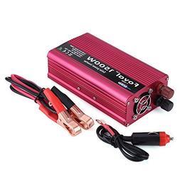 1500W Power Inverter for Car, DC 12V to AC 110V Car Inverter