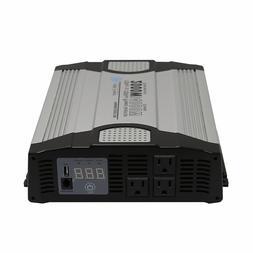 AIMS 2000 Watt 12VDC Car Power Inverter USB Port - Compact D