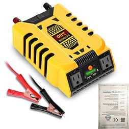 BYGD Power Inverter Converter 12V DC to 110V AC Adapter with