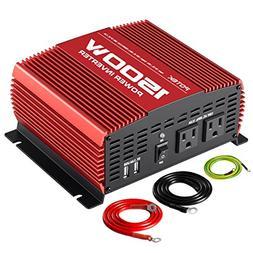 POTEK 1500W Power Inverter DC 12V to AC 110V Car Converter w