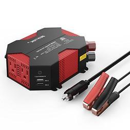 BESTEK 400W Power Inverter DC 12V to AC 110V Car Adapter wit