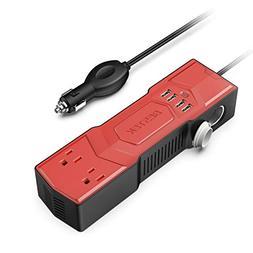 BESTEK 300W Power Inverter DC 12V to 110V AC Car Inverter 4.