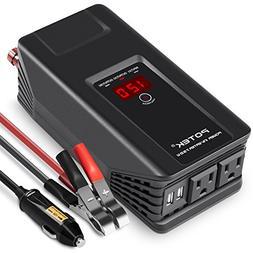POTEK 750W Power Inverter 12 V DC to 110 V AC Car Adapter wi
