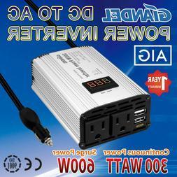 300W Power Inverter DC 12V to 110V AC Car Inverter with 4.8A