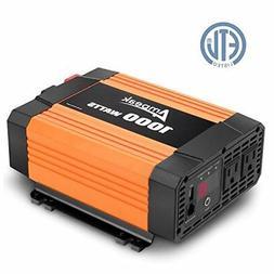 Ampeak 1000W Power Inverter 12V DC to 110V AC Truck/RV Inver