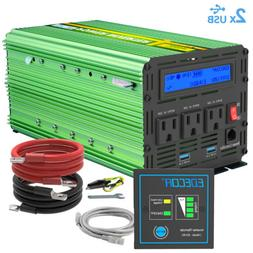 Power Inverter 2000W 4000 Watt 12V dc to 110V 120V ac with L