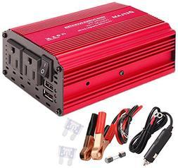 Power Inverter 400W DEFLAM DC 12V to 110V AC Car Inverter Ou