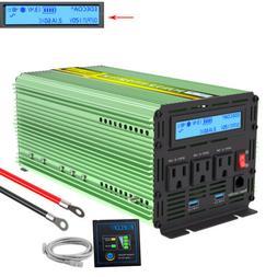 1000W 2000W Power Inverter Pure Sine Wave 12V dc 110V 120V a