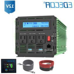 EDECOA 2500W 5000 Watt Power Inverter Pure Sine Wave 12V dc