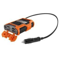 RIDGID 100 Watt Power Inverter 12V to  USB &  120 VAC RD9710