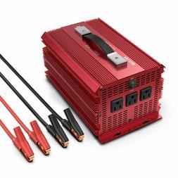 BESTEK Power Inverters 2000W Watt 12V DC to 110V AC 3 Outlet