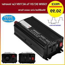Modified Sine Wave Power Inverter 1500W 12V/24V/48V DC To AC