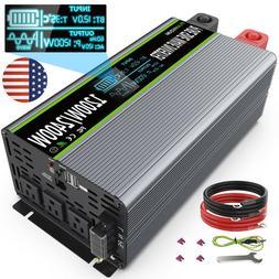 Pure Sine Wave Power Inverter DC 12V To AC 110V 120V 1200W 2