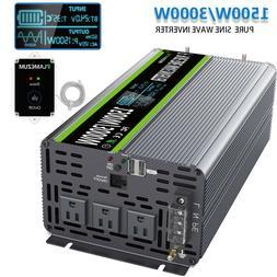 Pure Sine Wave Power Inverter DC 24V To AC 110V 120V 1500W 3