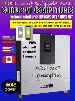 Special! PIP-LV5048 Hybrid 5kW 48V 120/240 Single/Split Phas