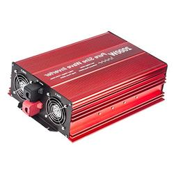 Fit4Less 2000W Pure Sine Wave Inverter 12V to 120V AC with 2