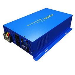 WZRELB Pure Sine Wave Inverter 2000W  12v DC to AC Power Sol
