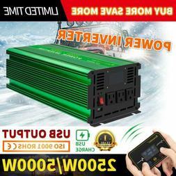 Pure Sine Wave Real Power Inverter DC12V 24V to AC 110V/220V