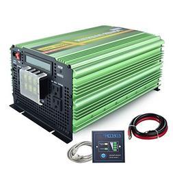EDECOA Pure Sine Wave Power Inverter 3500W DC 12V to AC 120V