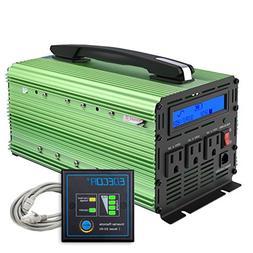 EDECOA 1500 Watt Pure Sine Wave Power Inverter 3000W Peak DC