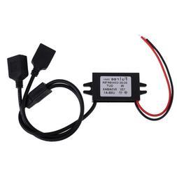 Alloet Single/Dual USB 12V to 5V DC/DC Step-down Power Adapt