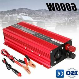 Solar 6000W Car Power Inverter DC 12V to AC 220V Pure Sine W
