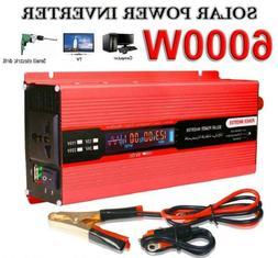 Solar 6000W Power Inverter DC 12V to AC 110V Modified Sine C