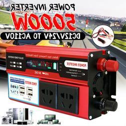 Solar Power Inverter 5000W PEAK 12V/24V to 110V AC Modified