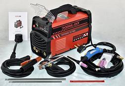 TIG-200 Amp TIG Torch, Stick ARC DC Inverter Welder, 110V &