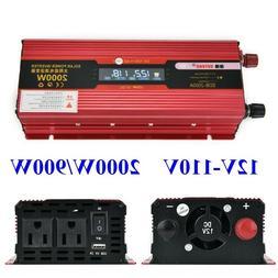 US 2000W/4000W Car Power Inverter Converter DC 12V To AC 110