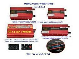 Portable Car LED Power Inverter WATT DC 12V Or 24V to AC 110