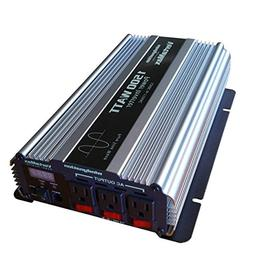 VertaMax PURE SINE WAVE 1500 Watt  12V Power Inverter DC to