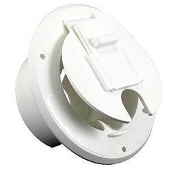 JR Products White 30 Amp Round Electric Cable Hatch